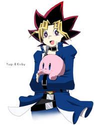 yugi and kirby by snshiraka