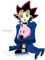 yugi and kirby by snshiraka