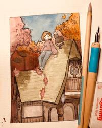 Watercolor practice by BasementScum