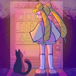 Sailor moon  by BasementScum