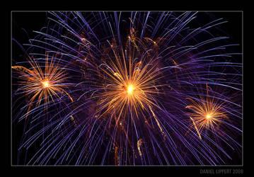 Orange and Violet Fireworks by Usabell12