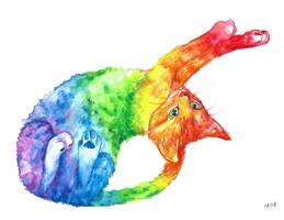 Rainbow kitten by NoreyDragon