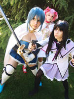 We will protect U until the end! - Madoka Magica by NamiWalker