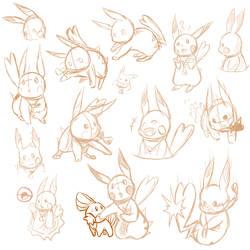 Pikachu Doodle by MsFroggit