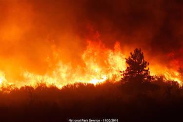 GSMNP Wildfire - Ranger's Eye View by slowdog294