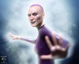 Purple Comic Girl by angela3d
