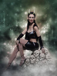 Throne of Skulls by angela3d