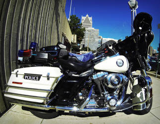 Police motorcycle by XaBe20