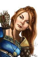 Foxglove half elf ranger character commission by NicoleCadet