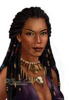 Voodoo Witch DragonAge RPG portrait by NicoleCadet