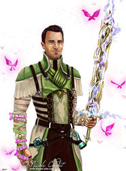 GW2 Male Mesmer Commission by NicoleCadet