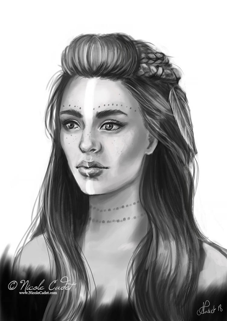 Tribal character portrait by NicoleCadet