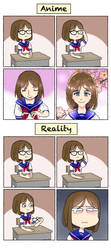 Anime Vs Reality by DerpInc