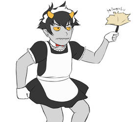 Karkat The Maid by MrBoogerLip