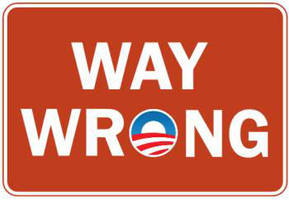 Wrong Way Obama by Conservatoons