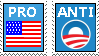 Pro America Anti Obama stamp by Conservatoons