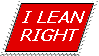 I Lean Right stamp by Conservatoons