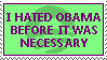 Hate Obama stamp by Conservatoons