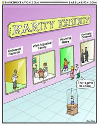 Rarity Exhibit cartoon by Conservatoons
