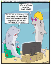 Tired of Shark Week by Conservatoons