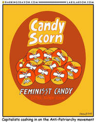 Feminists' Candy cartoon by Conservatoons
