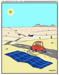 Solar Car Cartoon by Conservatoons
