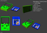 Gameboy Color. Lowpoly Lime. by Littlenorwegians