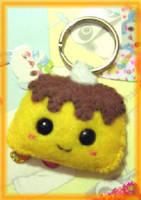 felt pudding face keychain by kneazlegurl125