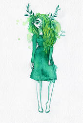 Green Dryad by ForestDiver