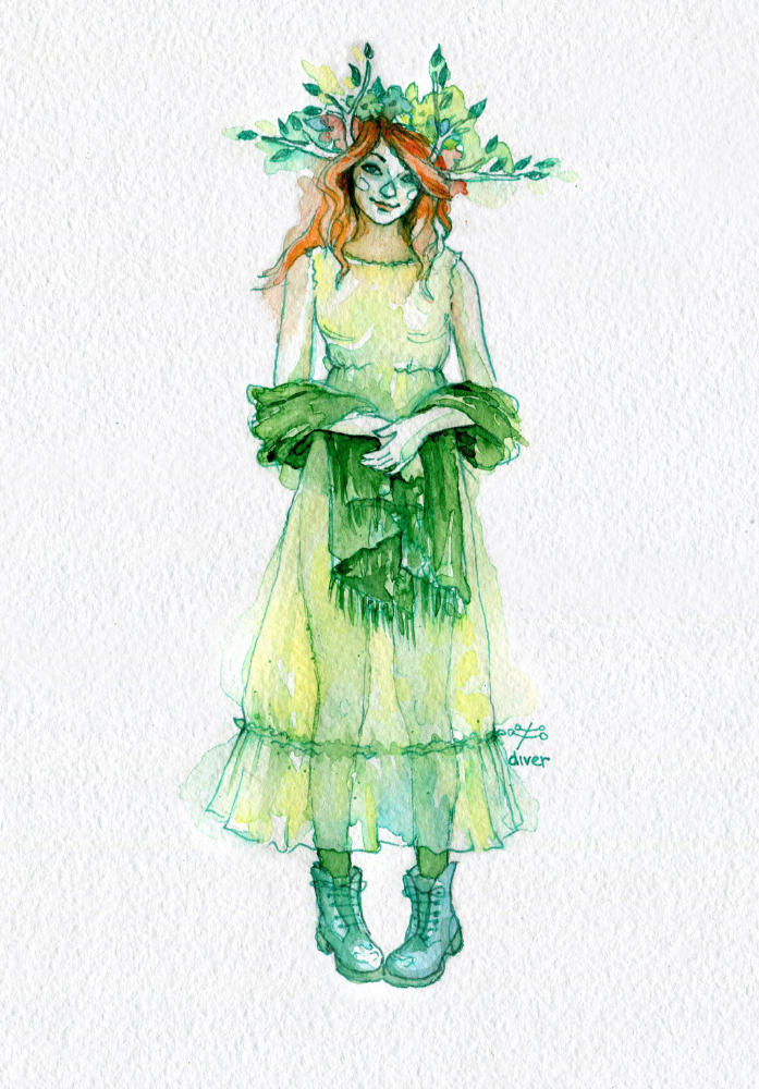 Green Dryad 5 by ForestDiver