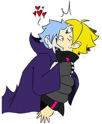 Mitsuki-vampire and Boruto by Dino-Dark