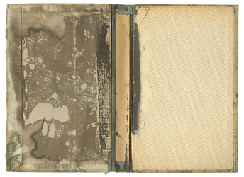 Old stained inside of a book cover | PNG by mercurycode