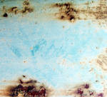 Rust texture on a blue barrel by mercurycode