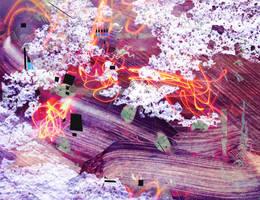 Digital art texture 14 by mercurycode