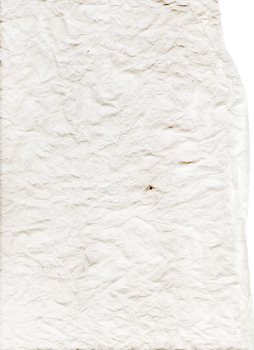 Crumbled white paper scan | PNG by mercurycode