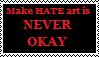 No hate art stamp by CheysMisadventures