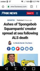 Hillenburg ashes lay to rest in the ocean by CheysMisadventures