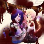 Happy Demon Halloween by CosmicPenguinNerd
