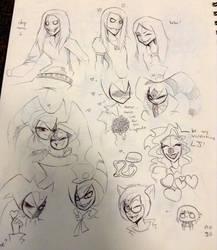 Valentine Doodles by SabrinaNightmaren