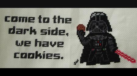 Darth Vader cross stitch by Santian69