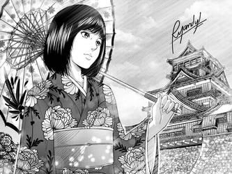 Kumamoto Lady by Raian-Kun