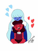 Ruby and Sapphire by JasmineTJB