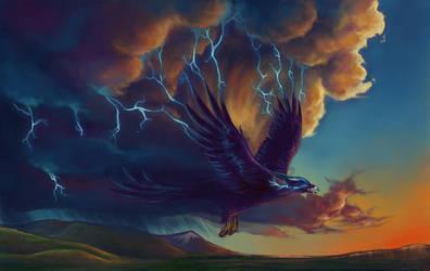 The Great Thunderbird by Selladorra