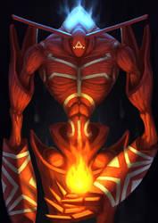 Shaman king Spirit of Fire by ArtDeepMind