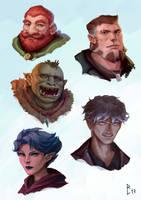 Portrait sketches by ArtDeepMind