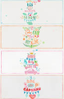 11715 Pack Typhography Watercolor by smalleyeskhanhhoa