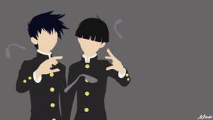 Kageyama Brothers (Mob Psycho 100) Minimalist by Max028