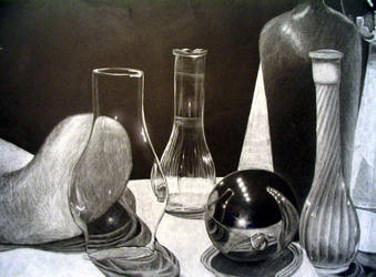 Black and White Still Life by MyIndigoEssence