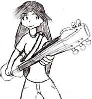 Guitar Heroine by AurePeri