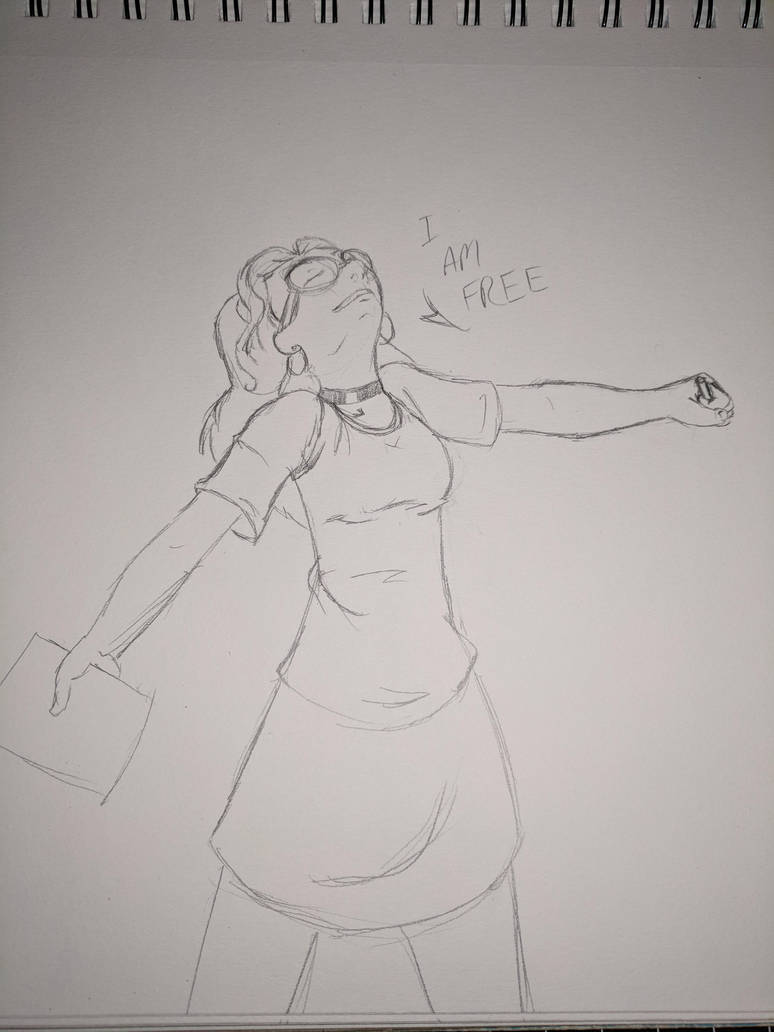 [Sketch] I am free! by AurePeri